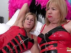 OldNannY Two Busty smllboy biggrill xvideo Lesbians Play Hot Games