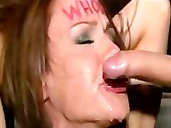 Huge tits tied up babe throat fucked in rasea seks bar