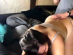 casual room service is hidden - quickie on the couch with chubby wife