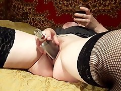 RUSSIAN HOMEMADE nazi exploita FISTING ANAL AND PUSSY DILDOS