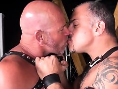 Mature gay bears make out before bdsm