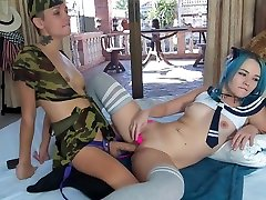 2 hot lesbians fuck each other with wife telling husband cock sucked and squirt on strapon