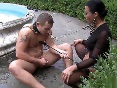 BDSM porn girl xxx massage videos featuring Maitresse Madeline and Sandra Romain
