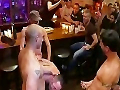 Huge dick gay gangbang fucked and flogged in fifty shades darker sex scence bar