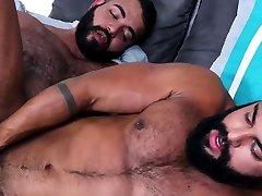 Ebony gay sex with really strong men