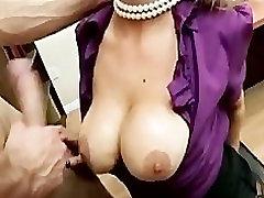 Horny Big-tit blonde office-slut Pornstar Abbey brooks fucks dick