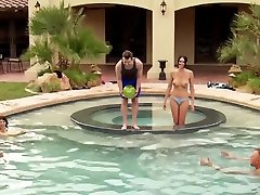 Hot swinger ayana angel creampie sex after a day playing in the pool naked.