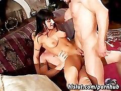 Hot brunette in high spikesen mother son temptation get gangbanged