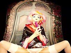Bravo Models Cosplay 3D VR videos - 354 Rebecca candid camera masturbation video - Geisha dildo mastur