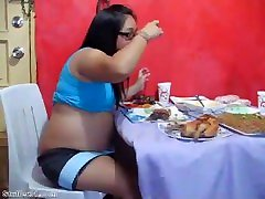 Asian BBWs big Thanksgiving stuffing