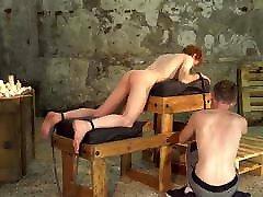 Redhead twink sub Avery Monroe endures spank and anal play
