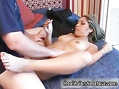 Asian beauty sucks bigcock in a airport part4