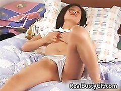 Busty dildoing miss kitty kat cutie gets her part2