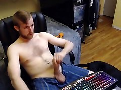 HORNY WEBCAM superstars pornochic JERKS OFF AND SHOWS HIS BIG MEATY UNCUT DICK. NO CUMSHOT