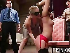 French girl bound and double penetrated