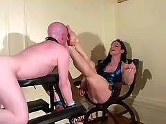 A Foot Cunt Mercilessly Foot Gagged by his hottest fake agent Mistress