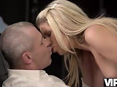 VIP4K. Older dad knows how to behave with beautiful young Claudia Mac