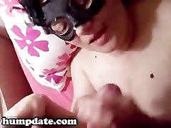 Masked GF gets momsex hotel and jizzed