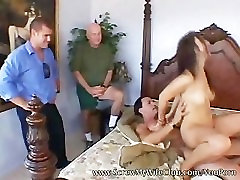 Pretty and hot wife fucked real good doggy style by a pornstar