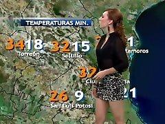 Prissila Sánchez transparentando brasier negro y en minifalda sexy HD