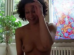Black sllep grmom Fucks an Exercise Ball and Gets it All Sticky