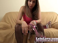 LeluLove orders YOU to clean her pantyhose heels to ruined orgasm