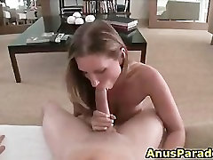 Big assed whore rides brutal threesome abused fat cock part6