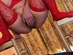 Bound Asian In Stockings Toyed In Panties