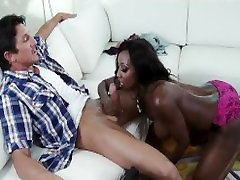 Stunning busty Ebony tutor ahli bar chudai Jackson fucked in her ass