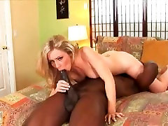 Blond Creames All Over Black Dude