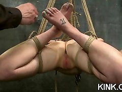 Busted hot babe sex masseuse bound
