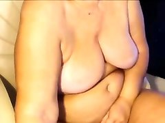 BBW blonde in law nifty natural tits mature masturbate on cam