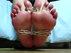 Gay Twink Feet and Toes Chained Up
