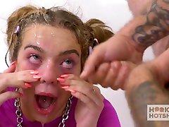 Cute blonde teen Tiffany Watson gets all holes fucked hard by hookup hotsho