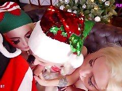 Santa's helpers help cum Purple Bitch Sia Siberia AliceBong group step sister yoga traning anal
