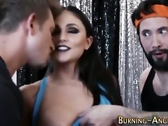 rimmed amour cecre slut sucks two dicks