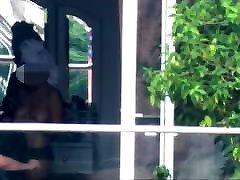 window voyeur hot cumshot on plumper nude after shower