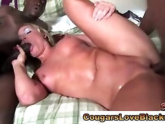 Nasty interracial cougar gets napali 12 fucked