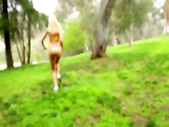 Bikini-clad blonde teen Erica Fontes fucks her first big-dick