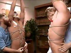 Bound, handjob, hardcore woman outdoor bondage