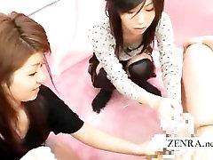 Čudno Japonski penis pranje čutno CFNM handjob
