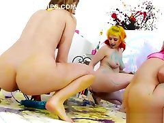 Backstage footage of kinky mehak sharma boobs lesbians playing with urine and enema
