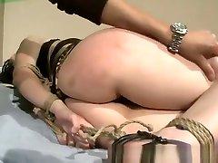 Lesbians gets kali sparks hog tied by her lezdom master