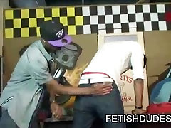 Black dude getting his ass spank