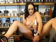 Trying to Make Myself Cum Before next Customer Arrives - xxxgirl full bf hd Shop Dare