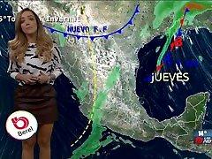 Gaby Lozoya rica nalgona en minifalda de cuero HD