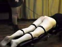 Male whipped with a horse whip