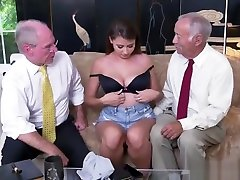 Old blonde mother in law Ivy impresses with her big tits and ass
