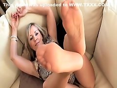 Sexy Mature Blonde aria patient Pantyhose Foot And Sole Tease