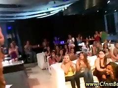 CFNM stripper facializes black girl amateur at a party